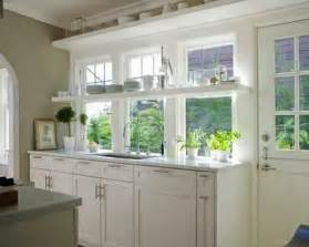 Kitchen Window Decorating Ideas by Open Kitchen Shelves And Stationary Window Decorating Ideas