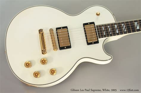 gibson supreme 2005 gibson les paul supreme white sold www 12fret