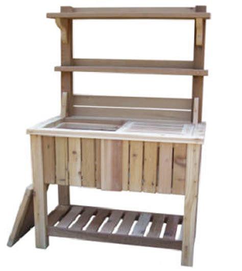 redwood potting bench potting bench