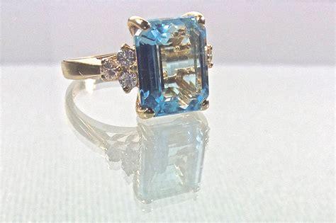 blue topaz vintage engagement ring onewed