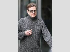 Colin Firth in a turtleneck on the set of Love Actually ... Colin Firth Movies