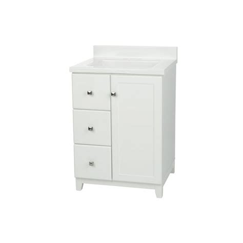 glacier bay highview 18 25 in w vanity in bark with