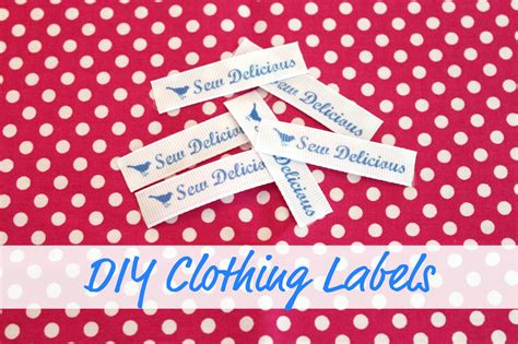 diy clothing labels tutorial sew delicious