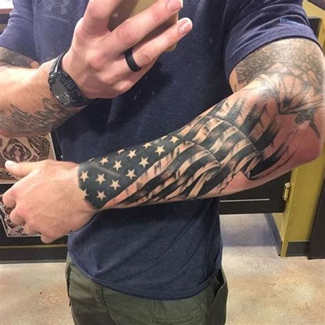 mulpix awesome americanflag tattoo from patriotic