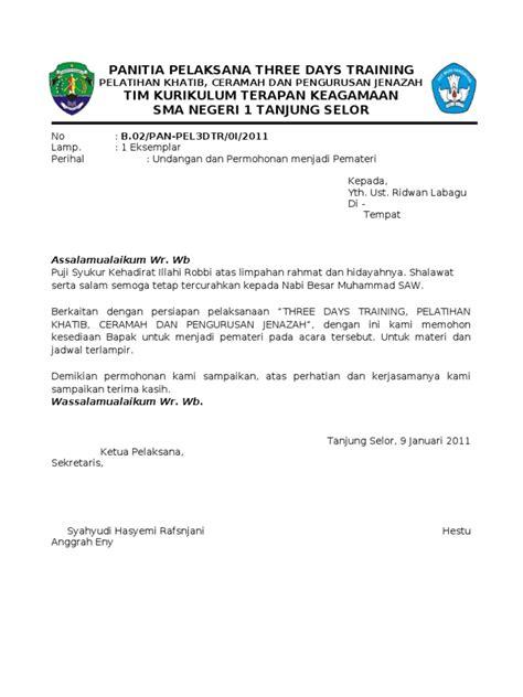 surat undangan pemateri