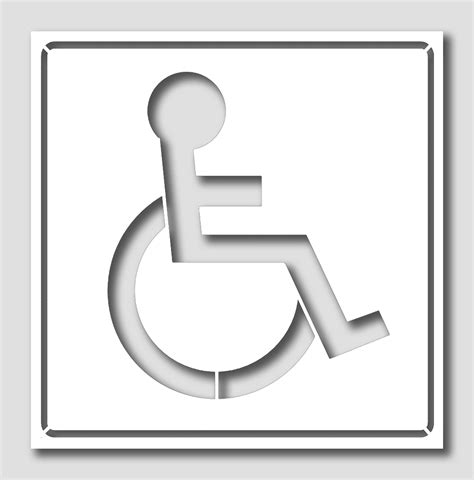handicap template handicap stencil pictures to pin on pinsdaddy