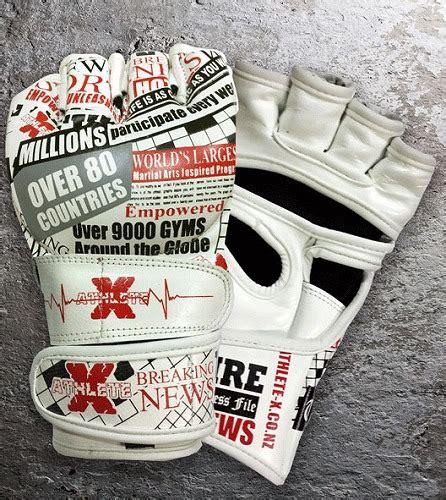 Athlete X Breaking News Mma White Size M L Xl athlete x mma gloves the breaking news white fighters