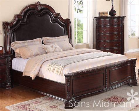 pc sheridan queen bedroom set  nightstand traditional cherry furniture ebay