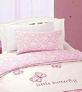 Toddler Bed Duvet Cover Butterfly Cotton Percale Pink And Butterfly Cot Toddler