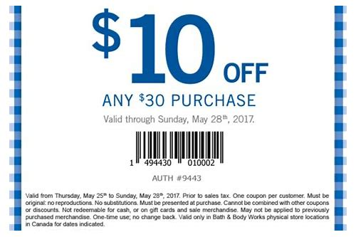 store coupons bath and body works