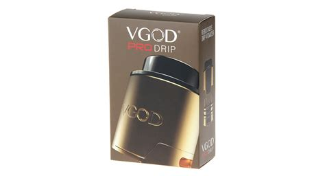 Vgod Pro Drip Black Silver Authentic Terjamin 49 55 authentic vgod pro drip rda rebuildable atomizer stainless steel 24mm