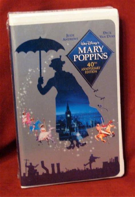 disney mary poppins vhs ebay walt disney mary poppins 40th anniversary ed vhs new ebay