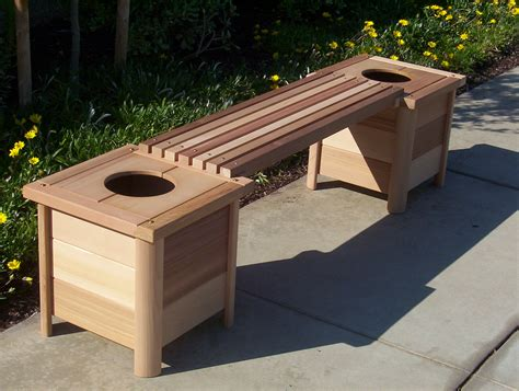 planter box bench plans download cedar planter bench plans free
