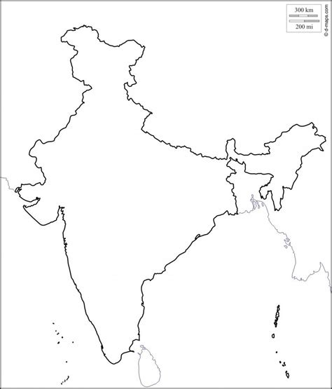 Outline Map And Indian War by India Map Outline India Outline Map Southern Asia Asia