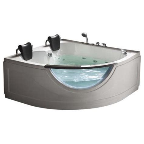home depot whirlpool bathtubs chelsea 4 92 ft heated whirlpool tub in white