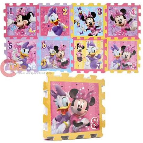 disney minnie mouse soft foam puzzle mats hopscotch play