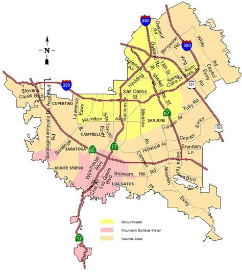 san jose territory map sjwc service area map district 5 united