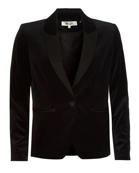 Blazer Dian Blazer diane furstenberg womens velvet blazer tailored fit black jacket