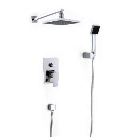 add shower head to bathtub faucet cindy bathroom luxury rain mixer shower combo set wall