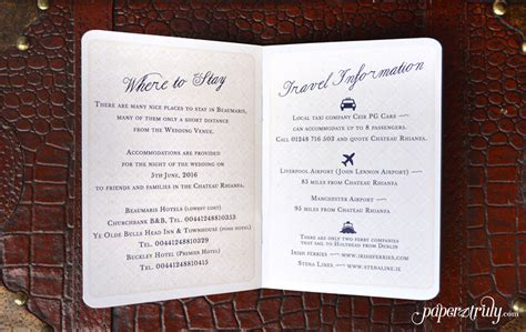 Come With Me Book Invites by Come Away With Me Passport Wedding Invitation