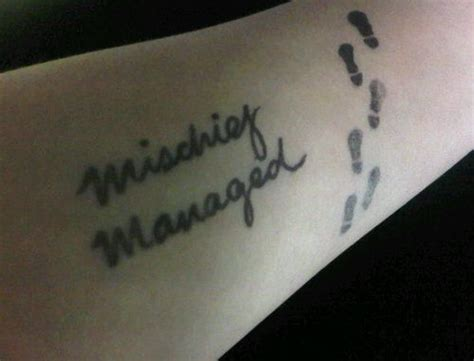 mischief tattoo best 25 mischief managed ideas only on