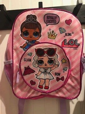 Lol L O L Doll Pink Baby lol doll pink backpack bag bling glitter miss