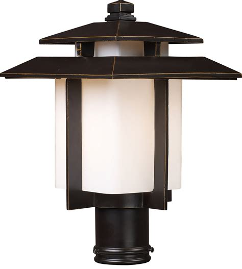 Mounted Light Fixture Elk Lighting 42173 1 Kanso Outdoor Post Mount Fixture