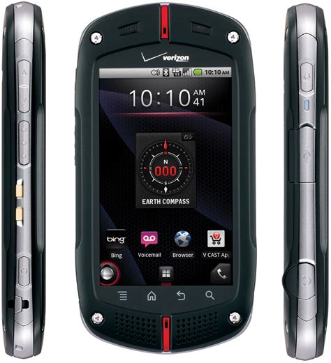 rugged android phone verizon casio gzone commando c771 rugged mil spec android smartphone for verizon black excellent