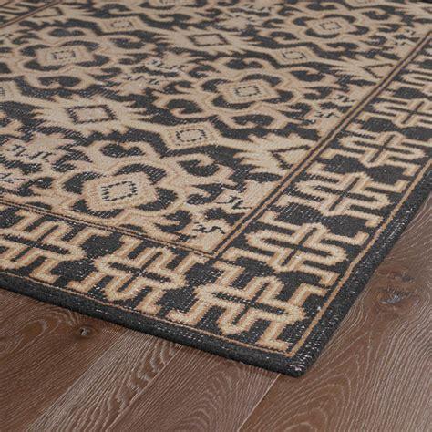Aztec Rug by Restoration Aztec Flatweave Rug In Black Rosenberryrooms