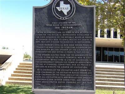 texas speaker of the house first speaker of the texas house of represtatives ira ingram texas historical