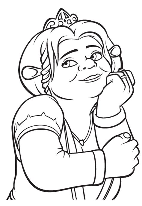 coloring pages of princess fiona princess coloring pages