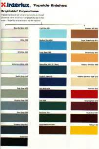 boat colors interlux marine paint color chart
