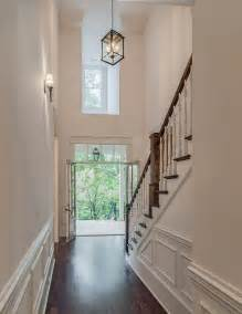 2 Story Foyer Lighting by Foyer With Wainscoting Transitional Entrance Foyer