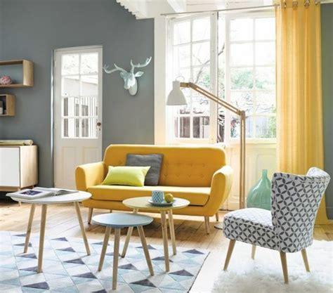 Salon Gris Bleu Jaune 1001 id 233 es cr 233 er une d 233 co en bleu et jaune conviviale