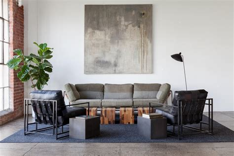 stephen kenn couch fashion and furniture partnership upcycles sweats into