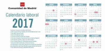 Tonga Calendrier 2018 Calendario Laboral 2017 Madrid Aprueba El Calendario