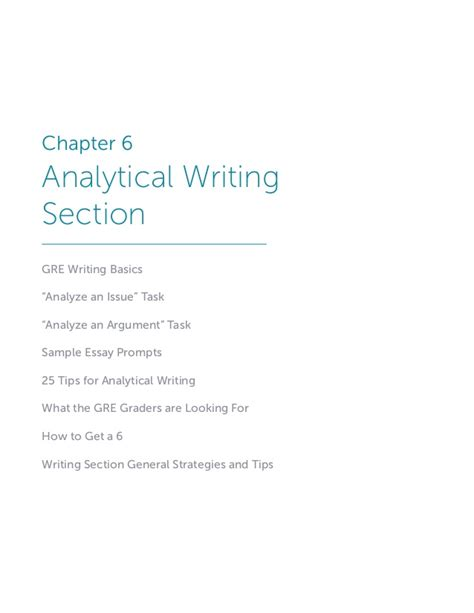 Gre Analytical Section by Benchprep S Gre Playbook
