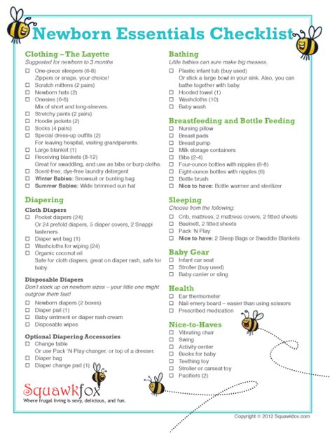 New Baby Supply Checklist New Baby Checklist On Baby Checklist Baby