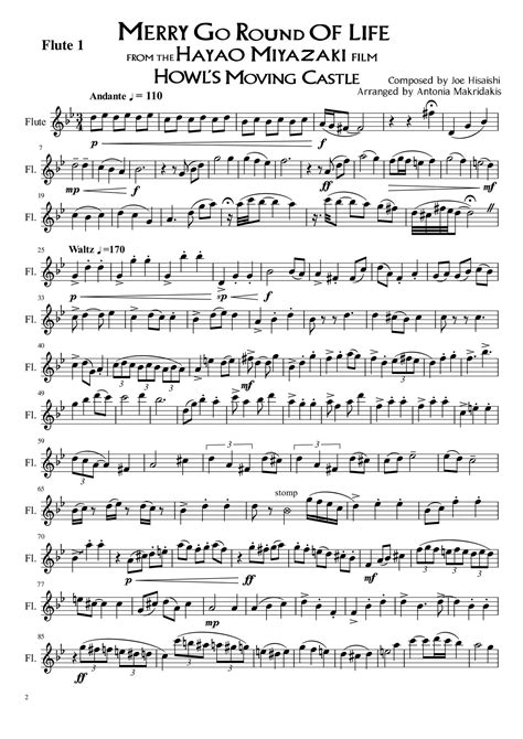Merry Go Round Of Life Flute Parts.pdf | DocDroid