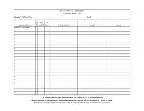 Volunteer Hours Log Template by 7 Best Images Of Printable Hours Log Volunteer Hours Log