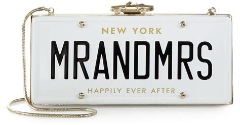 Wedding Belles License Plate Clutch by Lyst Kate Spade New York Wedding Belles License Plate