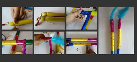 Decorate Dandiya Sticks Home | how to make dandiya sticks at home