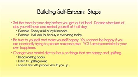 how to get better self esteem a without anorexia low self esteem