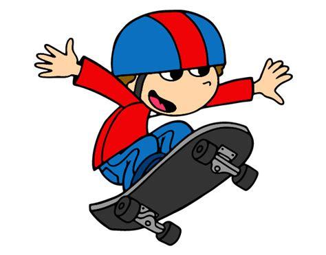 imagenes niños patinando dibujo de skate pintado por vazque en dibujos net el d 237 a