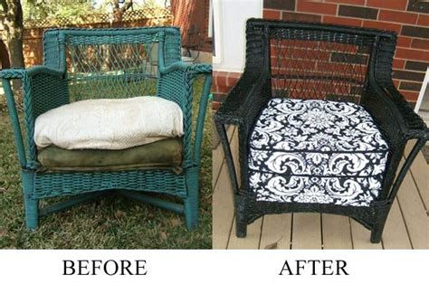 spray painting wicker before after spray painting wicker front porch ideas