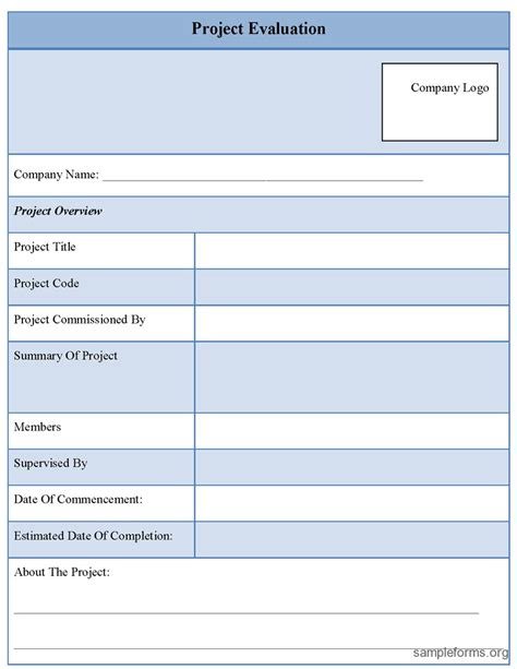 Project Evaluation Form Template project evaluation template search results calendar 2015