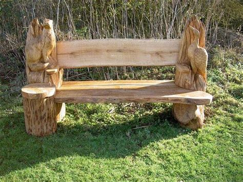 outdoor trunk bench 45 amazing ideas with recycled tree trunks diy to make