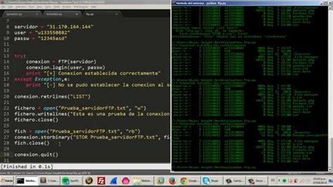 hacking con python la guã a completa para principiantes de aprendizaje de hacking ã tico con python junto con ejemplos prã cticos edition books conexi 243 n a un servidor ftp python script