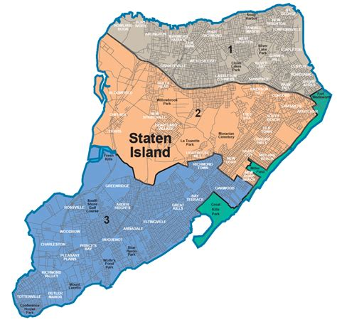sections of staten island nycdata maps boroughs with community districts