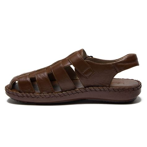 mens closed toe slide sandals new majestic s 71222 caged closed toe gladiator